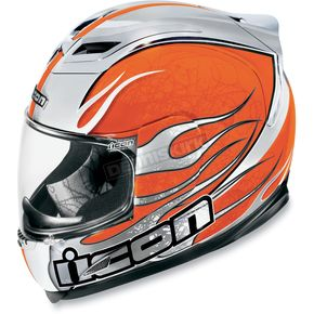 Icon Orange Airframe Claymore Chrome Helmet - 0101-3928
