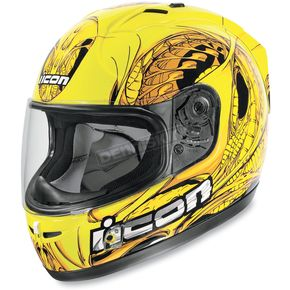 Icon Yellow Alliance SSR Speedfreak Helmet - 01014165