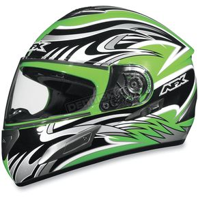 AFX FX-100 Green Multi Helmet - 0101-4510