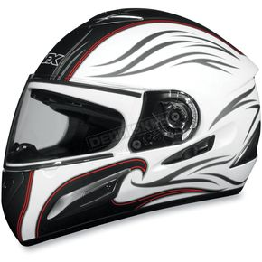 AFX FX-100 Pearl White Waves Helmet - 0101-4539
