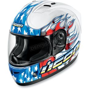 Icon Alliance SSR Britton White Helmet - 0101-4554