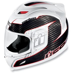 Icon Airframe Lifeform Carbon White Helmet - 0101-4572