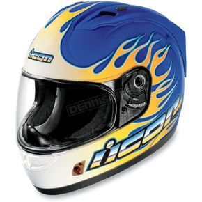 Icon Alliance SSR Igniter Blue Helmet - 0101-4602