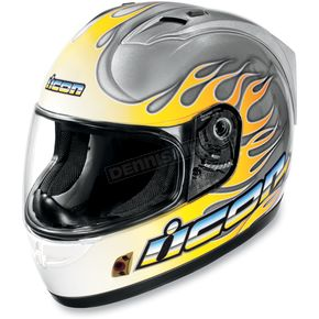 Icon Alliance SSR Igniter Silver Helmet - 0101-4609