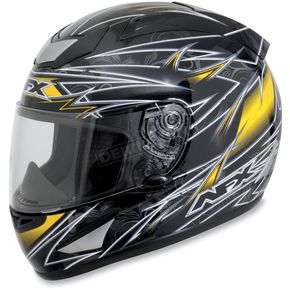 AFX FX-95 Black/Yellow Line Helmet - 0101-5123