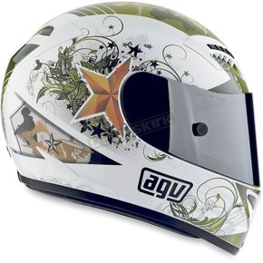 AGV White T-2 Warrior Helmet - 01015554