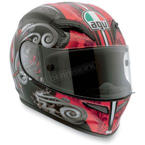 AGV Black/Red Stigma Grid Helmet - 0361O2C0002009