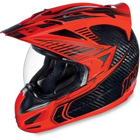 Icon Red Carbon Cyclic Variant Helmet - 0101-6022
