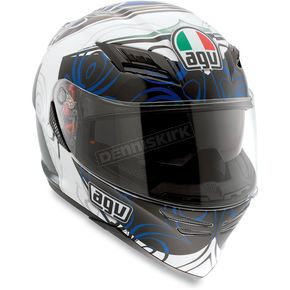 AGV White/Blue Absolute Horizon Helmet - 1301O2D0003009