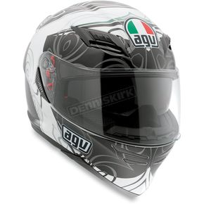 AGV White/Gunmetal Absolute Horizon Helmet - 1301O2D0001009