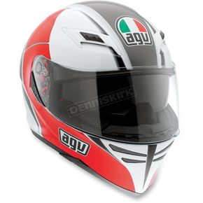 AGV White/Red Block Skyline Helmet - 1401O2D0002009