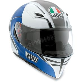AGV White/Blue Block Skyline Helmet - 1401O2D0003009
