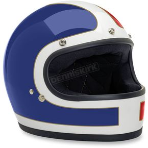 Biltwell Red/White/Blue Gringo Tracker Helmet - GH-RWB-TRK-MD