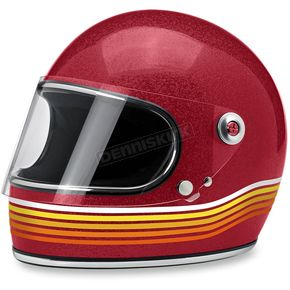 Biltwell Red Gringo S Spectrum Helmet - GS-RED-SPT-LG