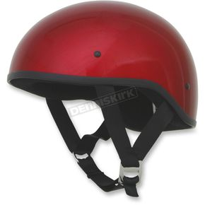 AFX Candy Apple Red FX-200 Slick Beanie Style Half Helmet - 0103-1003