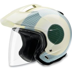 Z1R Royale Air Ace Pearl White/Mint/Forest Transit Helmet - 01040784