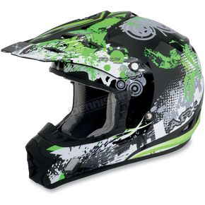 AFX Youth Green Stunt FX-17 Helmet - 0111-0727