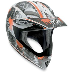 AGV White/Orange MTX Evolution Helmet - 902152A0012009