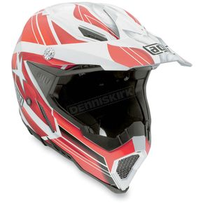 AGV White/Red Flagstars AX8 EVO Helmet - 7511O2C0002009