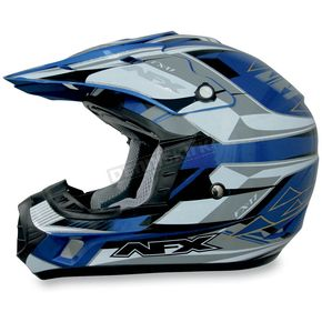 AFX FX-17Y Blue Multi Youth Helmet - 01110793