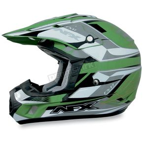 AFX FX-17Y Green Multi Youth Helmet - 01110799