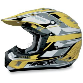 AFX FX-17Y Yellow Multi Youth Helmet - 01110808