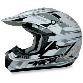 AFX FX-17Y Pearl White Multi Youth Helmet - 01110814