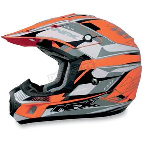 AFX Safety Orange Multi FX17 Helmet - 01103022