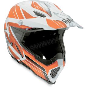 AGV White/Orange Flagstars AX8 EVO Helmet - 01103179