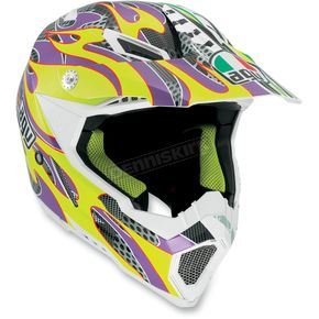 AGV Yellow/Purple Evo AX8 Helmet - 7511O2C0009009