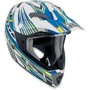 AGV White/Blue Point MTX Helmet - 902152A0015009