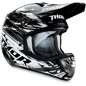 Thor Black Verge Twist Helmet - 0110-3335