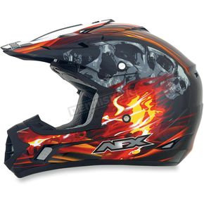 AFX Black/Red Multi FX-17 Inferno Helmet - 0110-3526