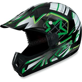 Z1R Youth Green Roost Launch Helmet - 0111-0927