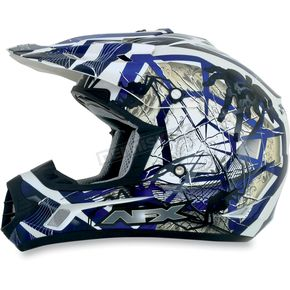 AFX Youth Blue FX-17Y Trap Helmet - 0111-0850