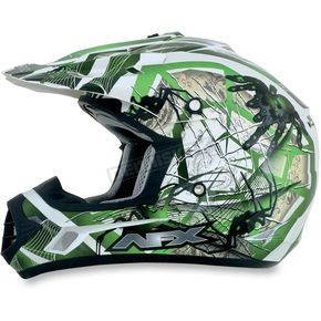 AFX Youth Green FX-17Y Trap Helmet - 0111-0858
