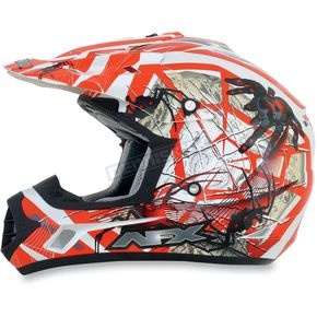 AFX Youth Orange FX-17Y Trap Helmet - 0111-0864