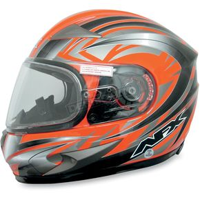 AFX Safety Orange Milti FX-90S Snow Helmet - 01210474