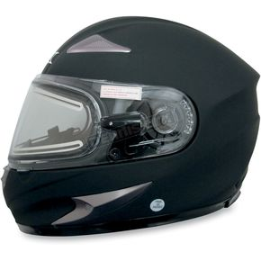AFX Flat Black FX-90S Snow Helmet w/Electric Dual-Lens Snow Shield - 01210506
