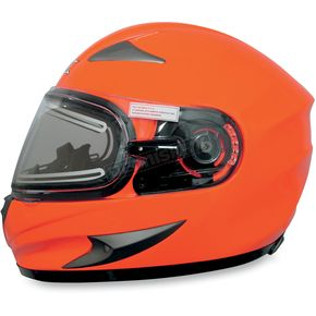 AFX Safety Orange FX-90S Snow Helmet w/Electric Dual-Lens Snow Shield - 01210509