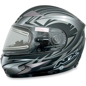AFX Multi Flat Black FX-90S Snow Helmet w/Electric Dual-Lens Snow Shield - 01210519