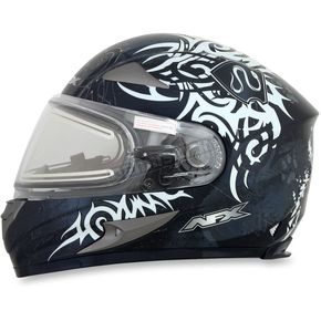AFX Silver FX-90SE Danger Helmet w/Electric Dual Lens Shield - 0121-0551