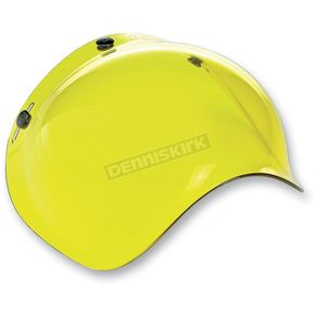 Biltwell Yellow 3-Snap Bubble Shield - BV-YEL-00-SD