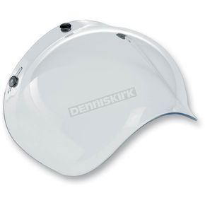 Biltwell Clear 3-Snap Bubble Shield - BV-CLR-00-SD