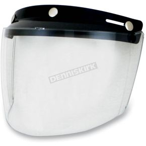 Clear Three-Snap Flip Bubble Shield/Visor - 0131-0075