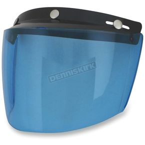 AFX Blue Three-Snap Flip Bubble Shield/Visor - 0131-0078