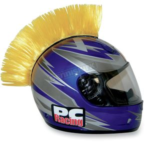PC Racing Yellow Helmet Mohawk - PCHMYELLOW