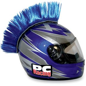 PC Racing Blue Helmet Mohawk - PCHMBLUE