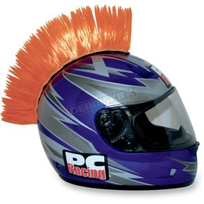 PC Racing Orange Helmet Mohawk - PCHMORANGE