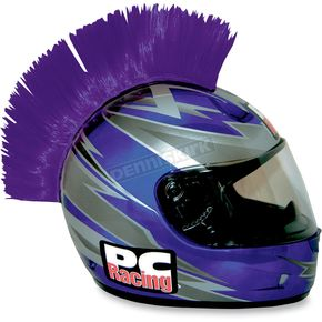 PC Racing Purple Helmet Mohawk - PCHMPURPLE